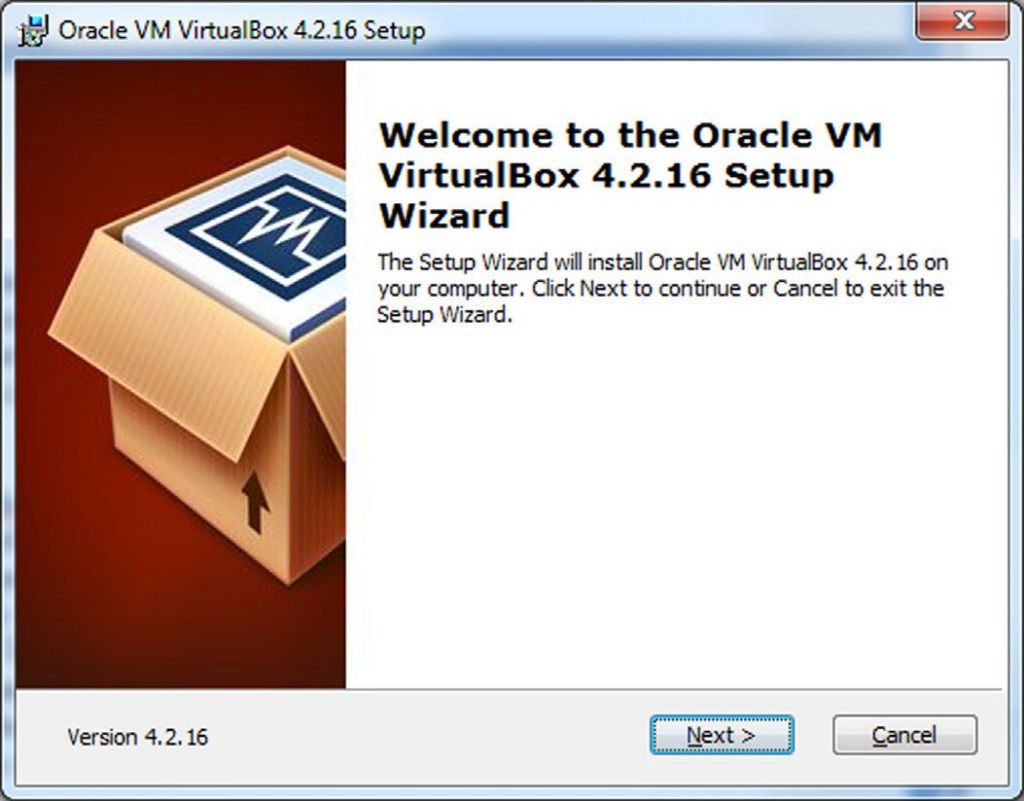 Installation Virtual Box on Window 1
