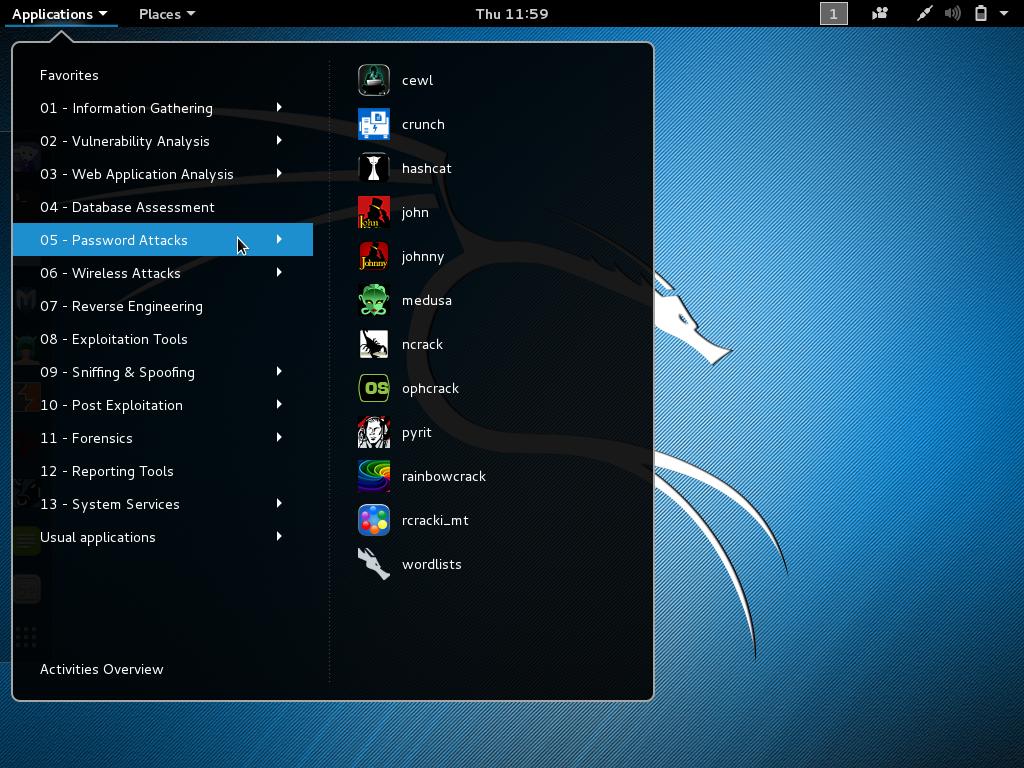 Kali linux 2.0 SANA Desktop
