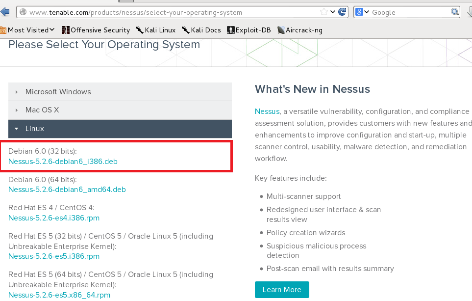 How to download nessus