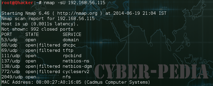 nmap -sU UDP Scan