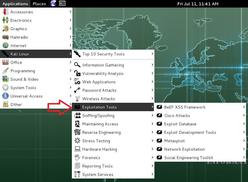 Exploitaion tools in Kali Linux