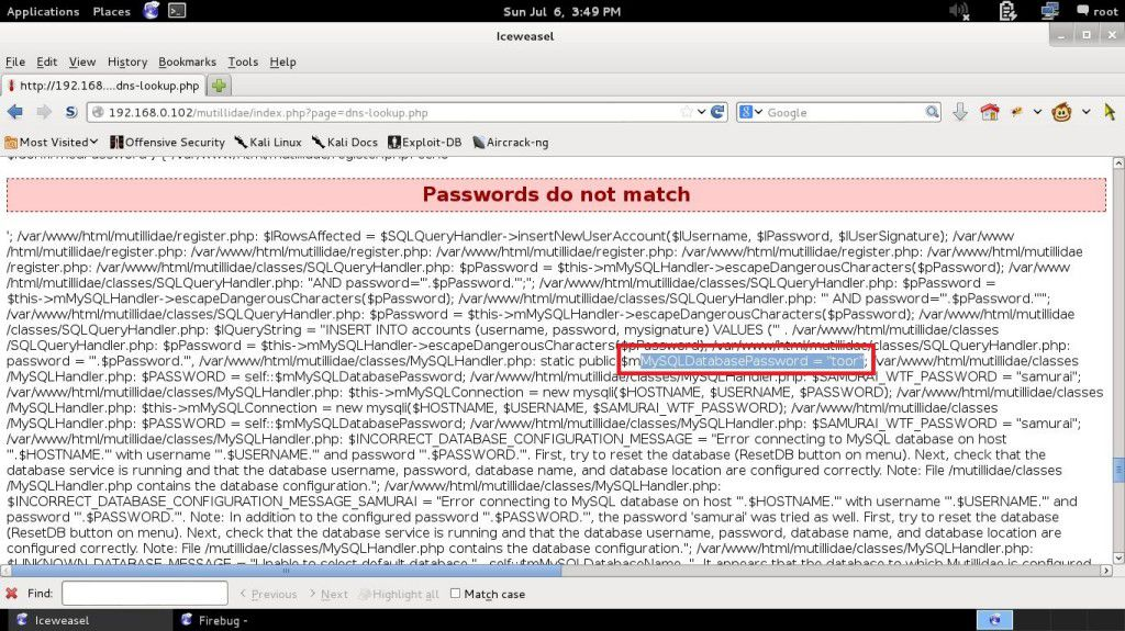 find the scripts contains password