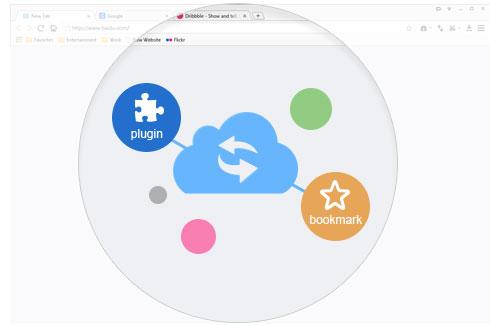 Account sync in baidu Browser