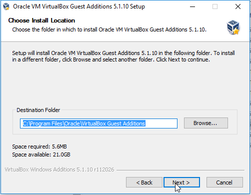 virtualbox guest additions Wizard -2