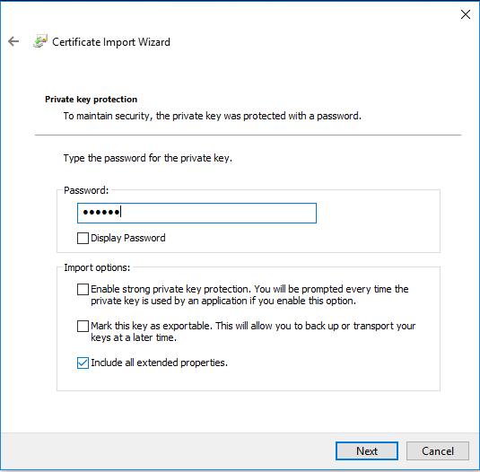 Enter the password