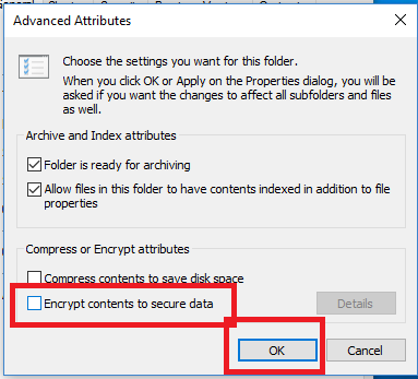 encrypt contents to Secure data
