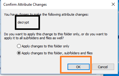 Changes to this folder, sub-folders and files