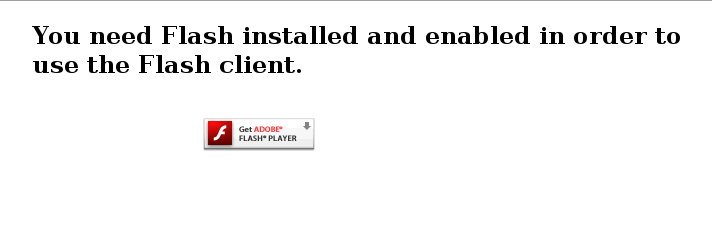 plash player error
