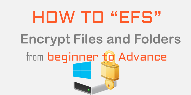 How to encrypt files and folders in W
