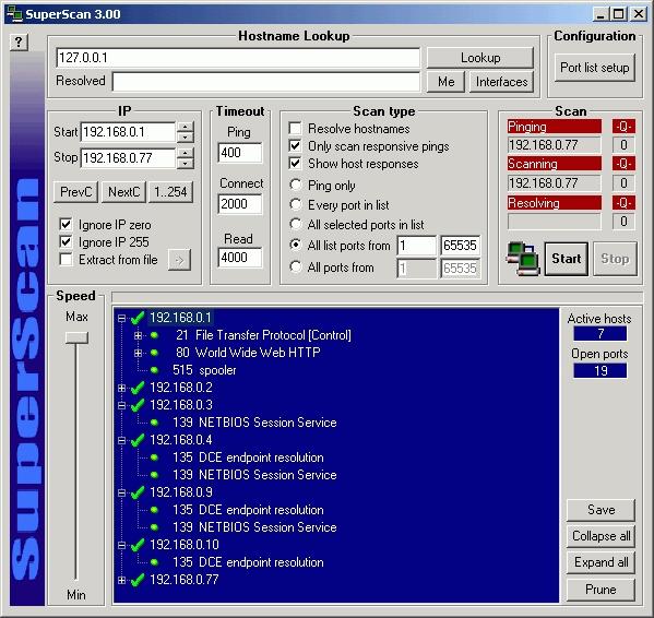 superscan port checker