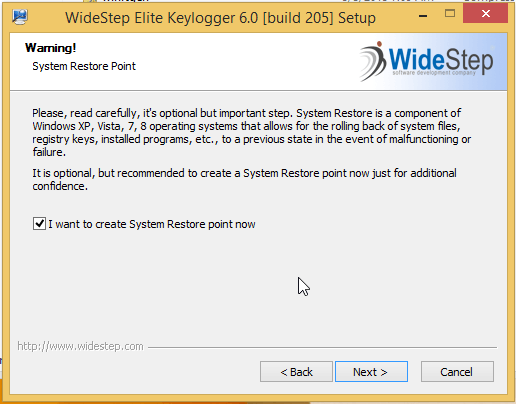 installing elite keylogger2